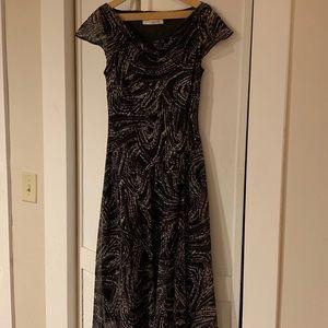 Evan Picone cap sleeve dress M
